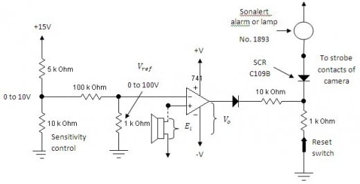 Sound triggered switch schematics
