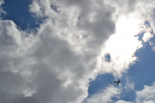 Sky above Luton