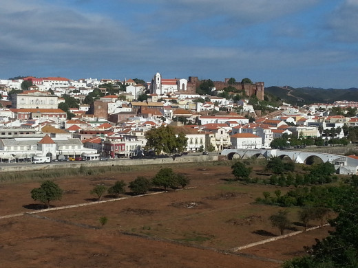 Panoramic view of Silves