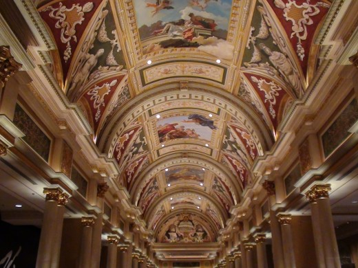 Artwork on the ceiling of The Venetian.