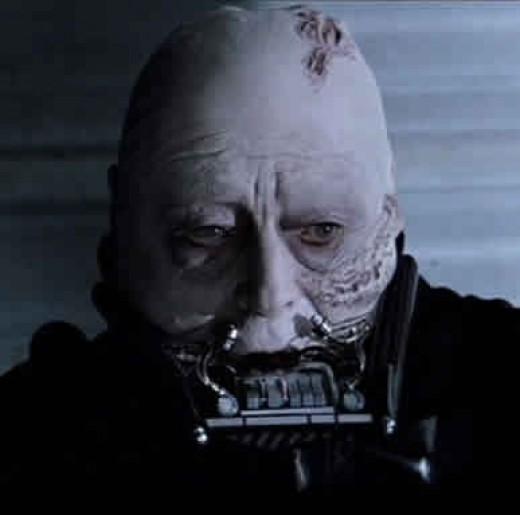 Sebastian Shaw as Unmasked Darth Vader