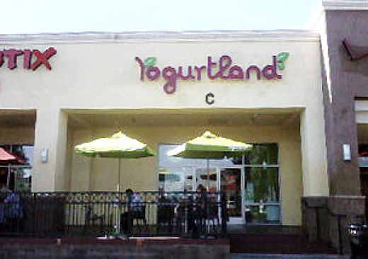 The very first Yogurtland in Fullerton, California.