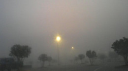 Visibility in foggy conditions can nearly disappear to nothing.