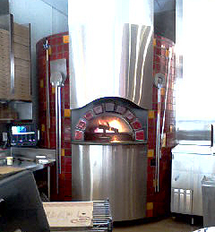 Pizza oven.
