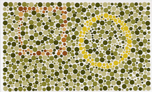 Most can see the circle, but do you see the faint brown box? If you can't (I cannot) see the box you have a red-green problem.