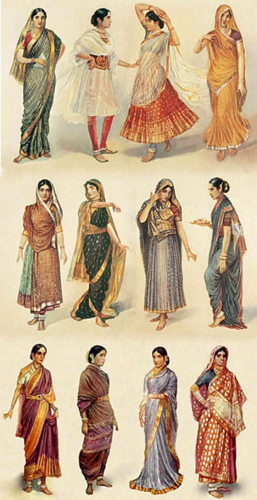 Different ways of drapping a Saree