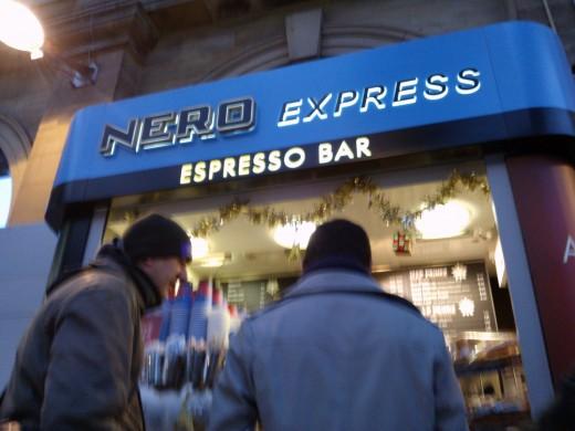 Caffe Nero Espresso Bar Lime Street Station Liverpool England
