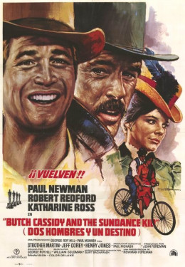 Butch Cassidy and the Sundance Kid (1969) Spanish poster