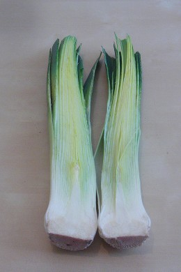 Slice leeks open to get all of the soil out