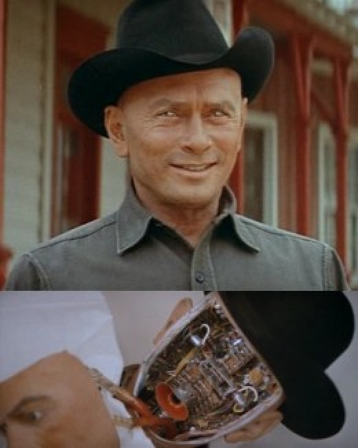 Yul Brynner as the Gunslinger in Westworld