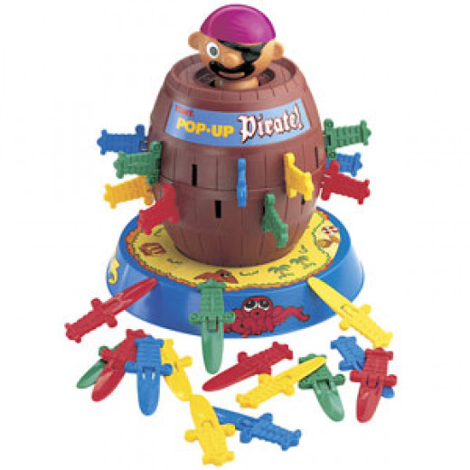 I used to be scared of this game because once the pirate popped out and hit me on the head!