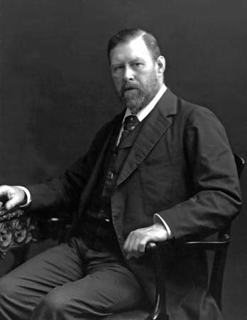 This is a Public Domain photo of the author Bram Stoker.