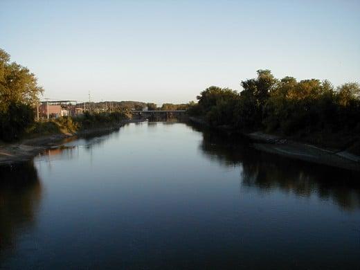 The Iowa River at Iowa City.