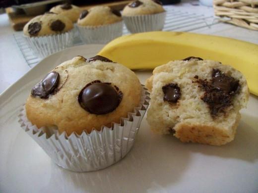 Vegan and Dairy-Free Banana Chocolate Chip Muffins
