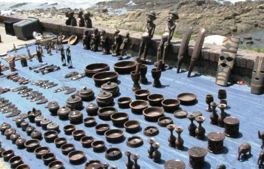 African Art for sale on East London Beach Front