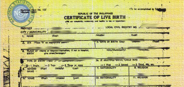 Pinoy housing image result for philippine birth certificate yadclub Images