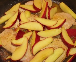 Apples on pork chops