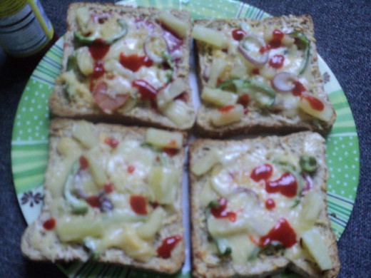 Homemade garden fresh pizza