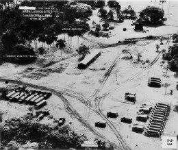 This photo was taken by a U-2 spy plane and shows a missile site being prepared on Cuban soil by the Soviets in 1962.
