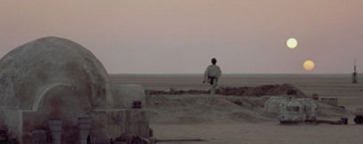 The famous homestead of Owen and Beru Lars, where of course Luke grew up. In this version, Anakin lodges here in between smuggling jobs.