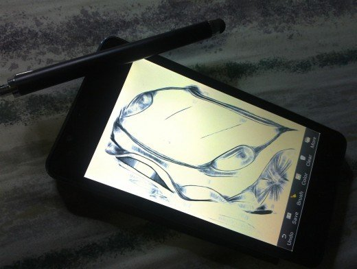 Doodling with the Titan and a Php 30 stylus