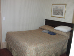 Bed of the Hotel Wolcott