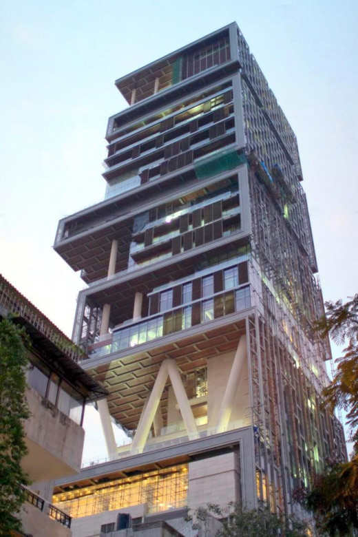 Antilia as seen from altamont road, Mumbai
