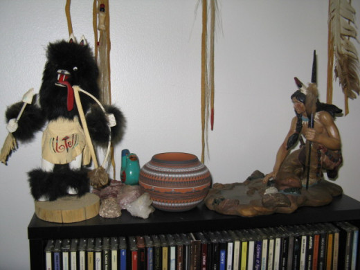 Kachinas, Indian Pottery, Music CD's