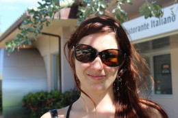 Phoebe Couture sunglasses are adorable on this twenty something gal.