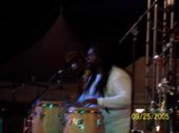 Percussionist with Rastafarians Band