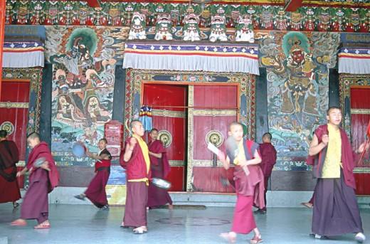 Rumtek Monastery, a replica of Chofuk monastery of central  Tibet