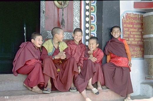 novice monks, Sikkim
