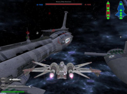 Showing a small part of how cool the games space battles really are
