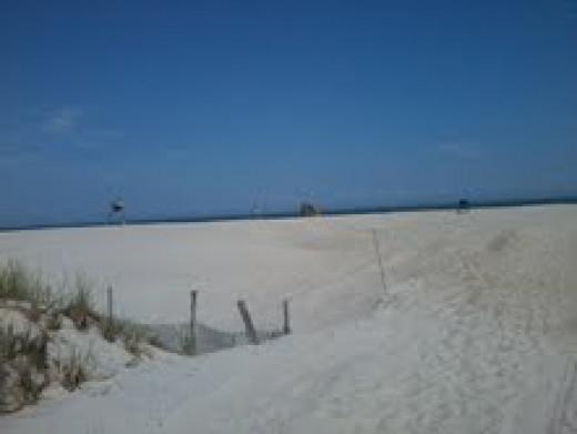 BEAUTIFUL WHITE SANDY BEACHES ON LONG BEACH ISLAND, (BRANT BEACH) THE SUMMER OF 2012