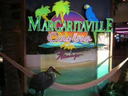 One of the decorative accents you'll see when you go through the Margaritaville casino on the way to the restaurant.