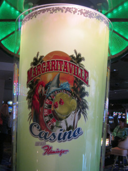A gigantic Margarita decoration outside of the restaurant that people were enjoying taking pictures of one of the times we visited.