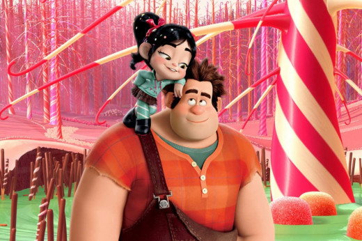 Screen shot of Ralph and Venellope in Wreck-It Ralph