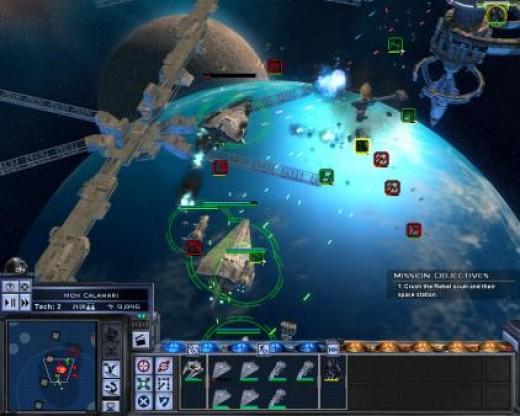 Empire at War space battle