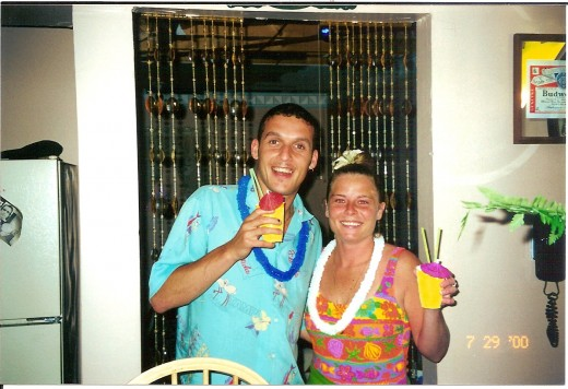 Tony and his girlfriend at a party we gave him in 2000.