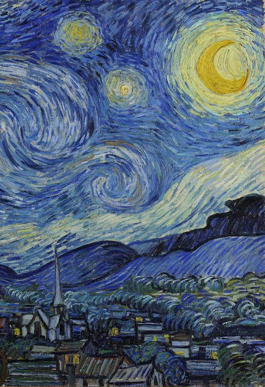 Detail of THE STARRY NIGHT by Van Gogh