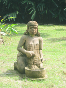 Taino woman preparing casabe