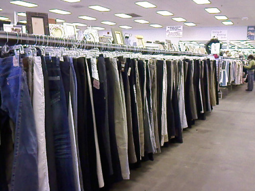 Aisle just for pants.