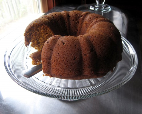 I really enjoy baking with my Bundt pan. Grab the recipe for this pumpkin pound cake below.