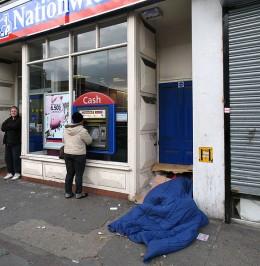 Homelessness - Tottenham High Road, Haringey, London UK