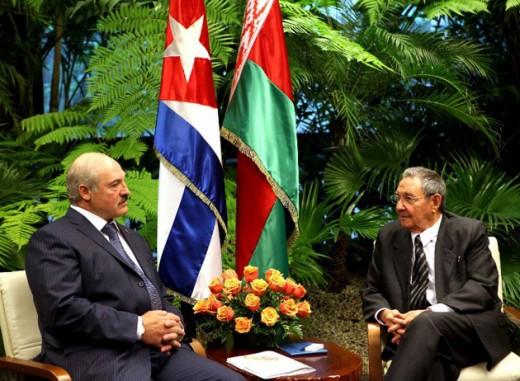 With Raul Castro
