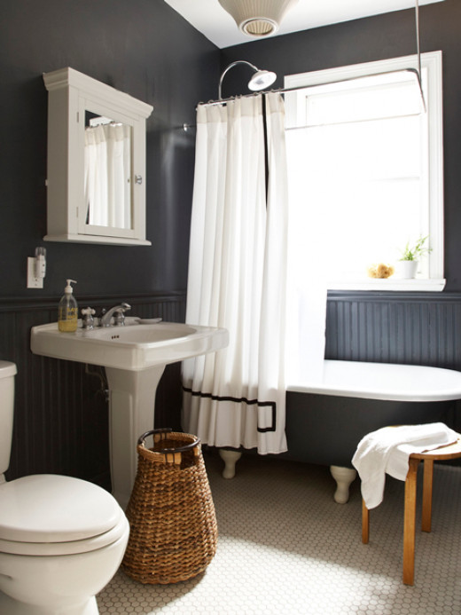 A simple yet highly attractive new bathroom.