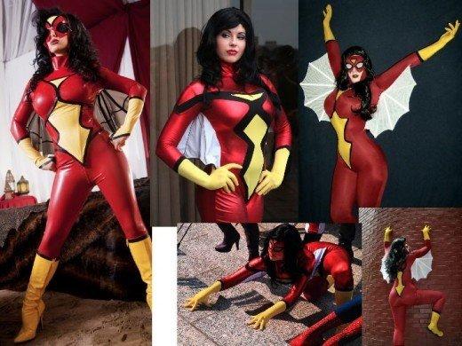 Cosplay Jessica Drew Spider Woman Costumes