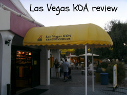 RV parks in Las Vegas - review of Circus Circus KOA campground