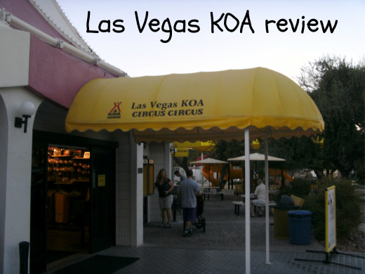 Store entrance to the KOA campground at Circus Circus in Las Vegas