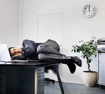 LAZINESS CAN EVEN INFECT THE BEST OFFICE PERSONNEL.